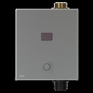 Alcaplast Automatický splachovač WC s manuálním ovládáním, kov, 6 V napájení z baterie (ASP3-KBT)