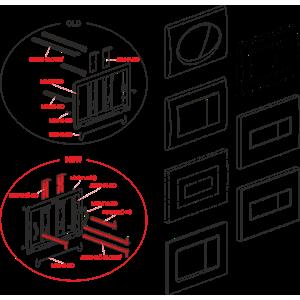 Alcaplast MN0121C-ND Zarážka tlačítka modulu - MN0121C-ND (MN0121C-ND)