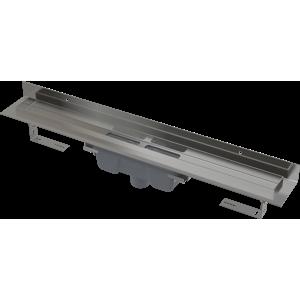 Alcaplast Podlahový žlab s okrajem pro plný rošt a s pevným límcem ke stěně, svislý odtok (APZ1016-950)