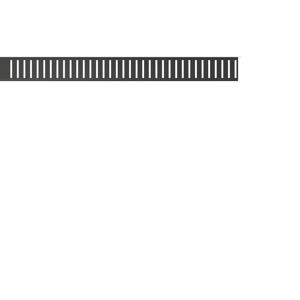 Alcaplast PURE-1050BLACK Rošt pro liniový podlahový žlab, černá-mat (PURE-1050BLACK)
