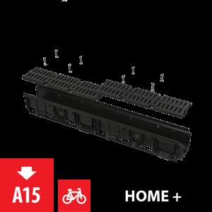Alcaplast Venkovní žlab 100 mm s plastovým rámem a plastovým roštem A15 (AVZ104-R401)