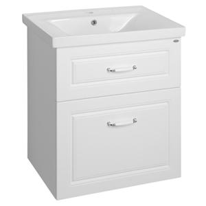 AQUALINE - FAVOLA skrinka, biela mat + umývadlo SAVA 65 (FV265+2065)