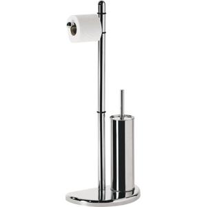 AQUALINE - HIBISCUS Stojan s držiakom na toaletný papier a WC kefou, chróm (HI32)