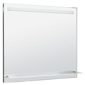 AQUALINE - LED podsvícené zrcadlo 100x80cm, skleněná polička, kolíbkový vypínač (ATH55)