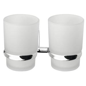 AQUALINE - RUMBA dvojitý držiak pohárov, mliečne sklo (RB105)