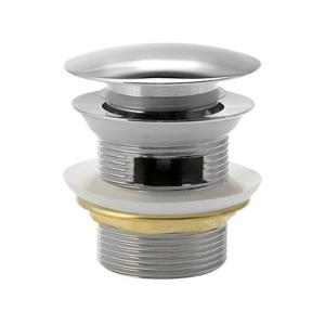 AQUALINE - Uzatvárateľná vaňová výpusť Click Clack, velká zátka, V 10-40mm, chróm (TF5005)
