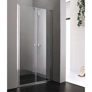 Aquatek - Glass B2 100 sprchové dveře do niky dvoukřídlé 97-101cm, barva rámu bílá, výplň sklo - matné (GLASSB2100-167)