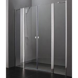Aquatek - Glass B4 105 sprchové dveře do niky dvoukřídlé s pevnou stěnou 100,5-104cm, barva rámu bílá, výplň sklo - matné (GLASSB4105-167)