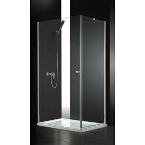 Aquatek - GLASS R10 100x80cm CHROM Sprchová zástěna, výplň sklo - čiré (GLASSR10-06)