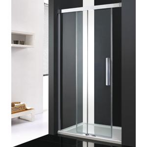 Aquatek - Nobel B2 - Luxusní sprchové dveře zasouvací s brzdou 132-136cm, sklo 8mm (NOBELB2135)