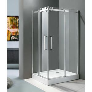 Aquatek - TEKNO R14 Chrom Luxusní sprchová zástěna obdélníková 100x80cm , sklo 8mm, výška 210 cm, varianta levá (TEKNOR14-113)