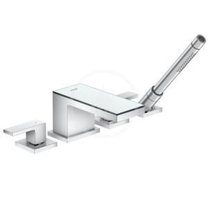 AXOR - MyEdition Vaňová batéria, 4-otvorová inštalácia, chróm/zrkadlové sklo (47430000)