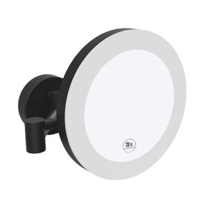 BEMETA Kosmetické zrcátko pr. 200 mm s LED osvětlením IP44 Touch sensor - černé (116101770)