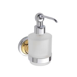 Bemeta RETRO - gold a chrom zlato-chrom dávkovač tekutého mýdla 200ml, sklo mini 144209108 (144209108)