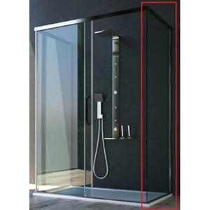 Boční panel URBAN ESSENCE F1 - Ossidato - matný hliník, 6mm čiré, 67 - 69,5 × 200 (v) cm (BEF10A1)