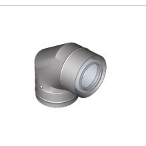 BRILON - Komín Serio fasádní koleno koaxiální DN125/80 x 87° nerez 52102516 (52102516)
