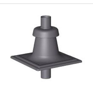 BRILON - Komín Serio komínový poklop DN80 černý, plastový s vyústěním PP-UV černá 52108111 (52108111)
