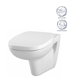 CERSANIT - SET WC FACILE + SEDÁTKO SOFT CLOSE DURAPLAST (K30-010/K98-0118)