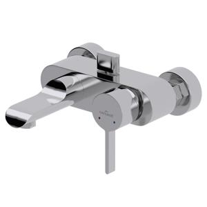 CERSANIT - Vaňová batéria so sprchou Luvi jednopáková, tříotvorová, nástenná, s pevným výtokovým ramienkom, s prepínačom, chróm (S951-012)