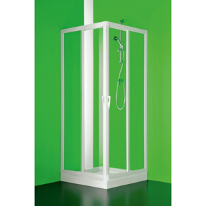 Čtvercový a obdélníkový sprchový kout VELA - 185 cm, 75 cm × 75 cm, Univerzální, Plast bílý, Čiré bezpečnostní sklo - 3 mm (BSVEL7575S)
