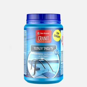 DEN BRAVEN - Cranit Triplex tablety 1 kg, dezinfekce,proti řasám,vločkování, bazénová chemie CH200 (CH200)