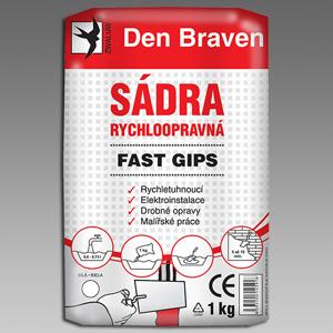DEN BRAVEN - Sádra 1kg rychloopravná Fast Gips 00415GY (00415GY)
