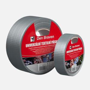 DenBraven lepící páska pevnostní 50mm délka 25m stříbrná univerzální POWER TAPE (B799TE)