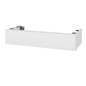 Dřevojas - Doplňková skříňka pod desku DSD SZZ 100. s výřezem (výška 20 cm) - N01 Bílá lesk / N07 Stone (230036)