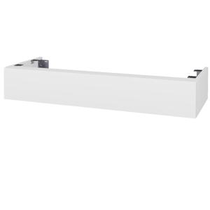 Dřevojas - Doplňková skříňka pod desku DSD SZZ 120. s výřezem (výška 20 cm) - N01 Bílá lesk / D14 Basalt (232283)