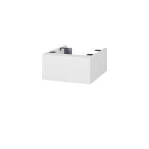 Dřevojas - Doplňková skříňka pod desku DSD SZZ 40. bez výřezu (výška 20 cm) - N01 Bílá lesk / L01 Bílá vysoký lesk (222529)