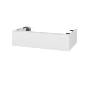Dřevojas - Doplňková skříňka pod desku DSD SZZ 80. bez výřezu (výška 20 cm) - N01 Bílá lesk / D05 Oregon (227944)