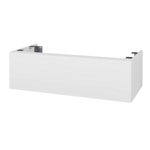Dřevojas - Doplňková skříňka pod desku DSD SZZ1 100. bez výřezu (výška 30 cm) - N01 Bílá lesk / D14 Basalt (230333)