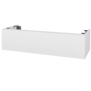 Dřevojas - Doplňková skříňka pod desku DSD SZZ1 120. s výřezem (výška 30 cm) - N01 Bílá lesk / D02 Bříza (232986)