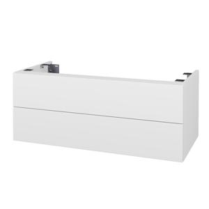 Dřevojas - Doplňková skříňka pod desku DSD SZZ2 100. s výřezem (výška 40 cm) - N01 Bílá lesk / N03 Graphite (231576)