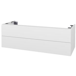 Dřevojas - Doplňková skříňka pod desku DSD SZZ2 120. s výřezem (výška 40 cm) - N01 Bílá lesk / D15 Nebraska (233853)