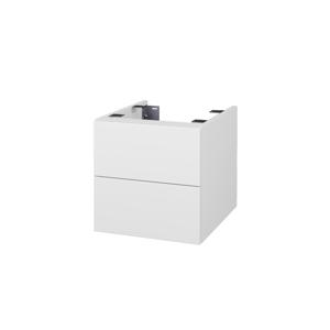 Dřevojas - Doplňková skříňka pod desku DSD SZZ2 40. bez výřezu (výška 40 cm) - N01 Bílá lesk / D16 Beton tmavý (224172)