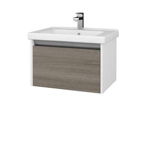 Dreja Dreja - Koupelnová skříň BONO SZZ 65 (umyvadlo Harmonia) - N01 Bílá lesk / D03 Cafe (204006)