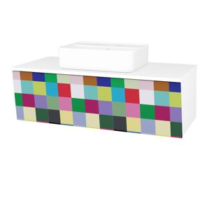 Dřevojas Dřevojas - Koupelnová skříň INVENCE SZZ 100 (umyvadlo Joy 2) - N01 Bílá lesk / IND Individual (182878)