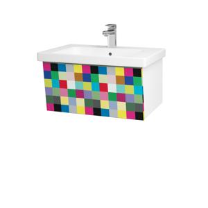 Dřevojas Dřevojas - Koupelnová skříň INVENCE SZZ 65 (umyvadlo Harmonia) - N01 Bílá lesk / IND Individual (176334)
