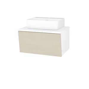 Dřevojas Dřevojas - Koupelnová skříň INVENCE SZZ 65 (umyvadlo Joy 3) - N01 Bílá lesk / D02 Bříza (177959)