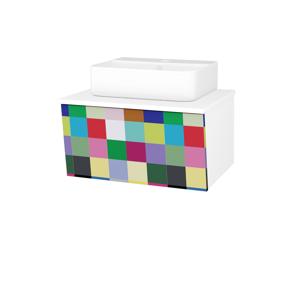Dřevojas Dřevojas - Koupelnová skříň INVENCE SZZ 65 (umyvadlo Joy 3) - N01 Bílá lesk / IND Individual (178062)