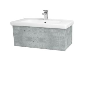 Dřevojas Dřevojas - Koupelnová skříň INVENCE SZZ 80 (umyvadlo Harmonia) - D01 Beton / D01 Beton (178758)