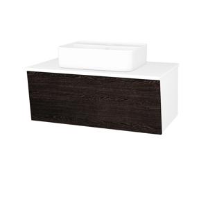 Dřevojas Dřevojas - Koupelnová skříň INVENCE SZZ 80 (umyvadlo Joy 2) - N01 Bílá lesk / D08 Wenge (180119)