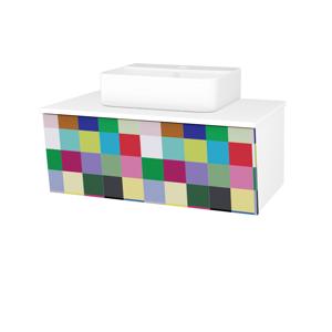 Dřevojas Dřevojas - Koupelnová skříň INVENCE SZZ 80 (umyvadlo Joy 3) - N01 Bílá lesk / IND Individual (181147)