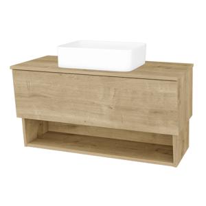 Dřevojas Dřevojas - Koupelnová skříň INVENCE SZZO 100 (umyvadlo Joy) - D09 Arlington / D09 Arlington (181802)