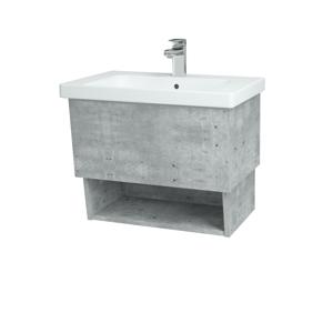 Dřevojas Dřevojas - Koupelnová skříň INVENCE SZZO 65 (umyvadlo Harmonia) - D01 Beton / D01 Beton (146979)