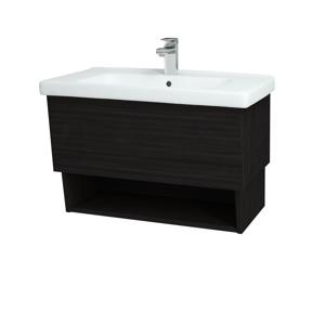 Dřevojas Dřevojas - Koupelnová skříň INVENCE SZZO 80 (umyvadlo Harmonia) - D14 Basalt / D14 Basalt (147204)