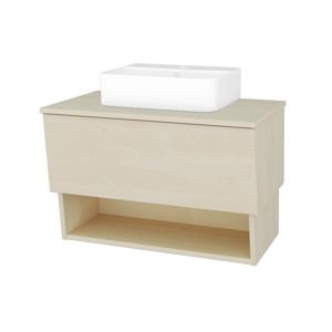 Dřevojas Dřevojas - Koupelnová skříň INVENCE SZZO 80 (umyvadlo Joy 3) - D02 Bříza / D02 Bříza (180584)