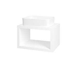 Dřevojas Dřevojas - Koupelnová skříň STORM SZO 60 (umyvadlo Joy) - M01 Bílá mat (212223)