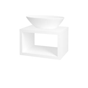 Dřevojas Dřevojas - Koupelnová skříň STORM SZO 60 (umyvadlo Triumph) - M01 Bílá mat (212711)